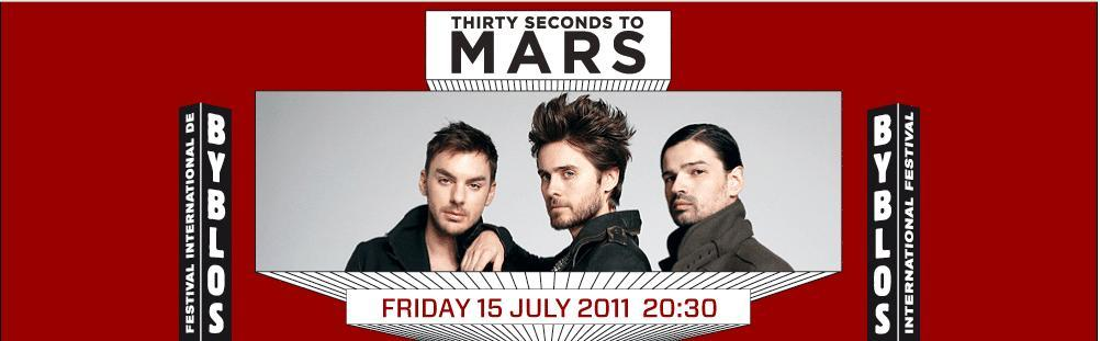 Thirty Seconds To Mars At Byblos International Festival
