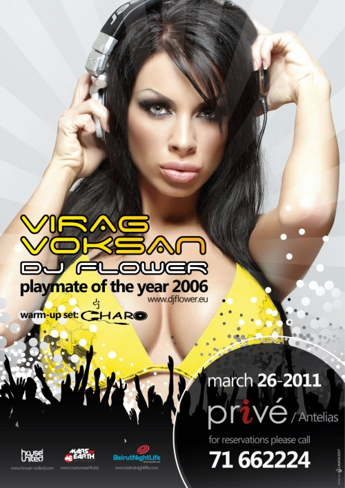 Playboy's Sexiest Dj Playmate Of The Year 2006 Virag Voksan Live At Privé