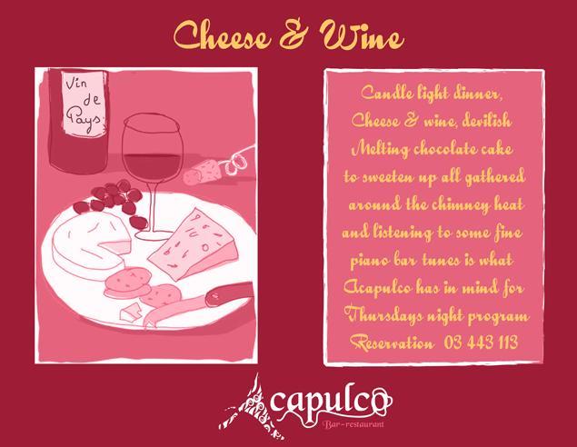 Cheese And Wine At Acapulco