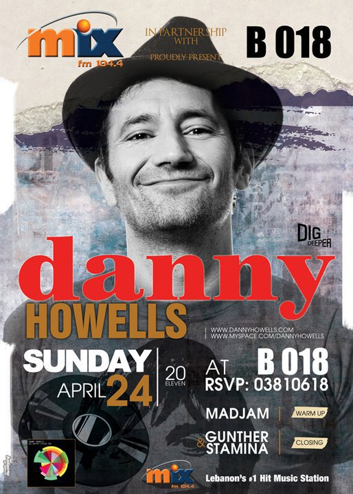 Danny Howells On Easter Sunday At B018