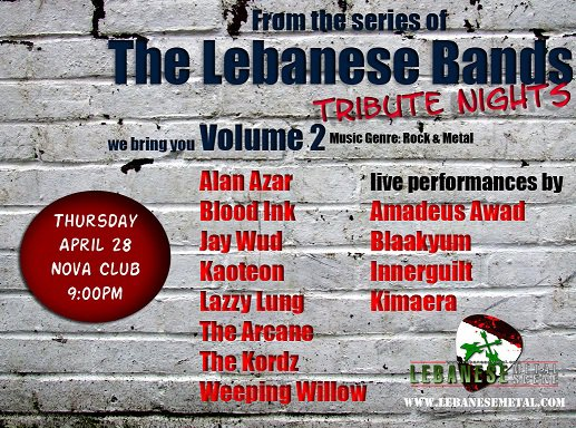 Lebanese Bands Tribute Night