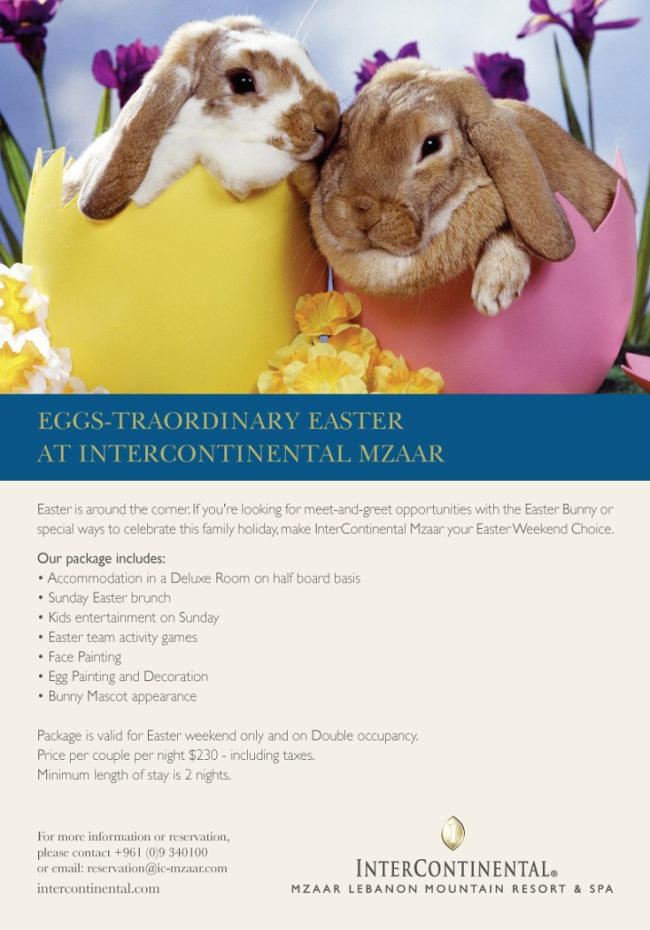 Eggs-Traordinary Easter At Intercontinental Mzaar