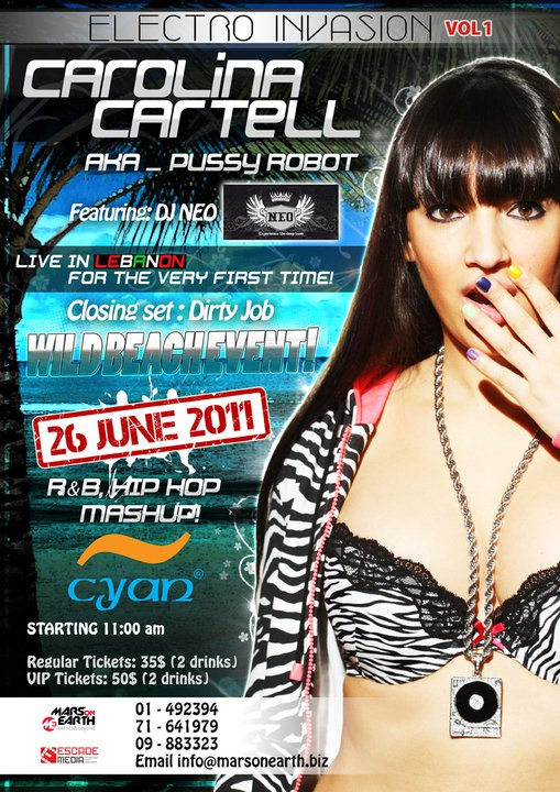 Day Beach Party Carolina Cartell Live At Cyan