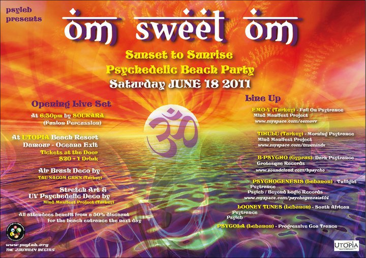 Psyleb Presents Om Sweet Om Trance Beach Party At Utopia