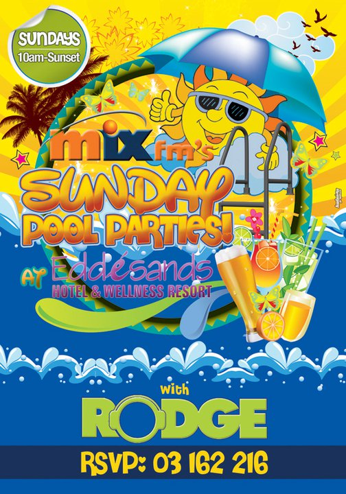 Mix Fm's Sunday Pool Parties At Edde Sands