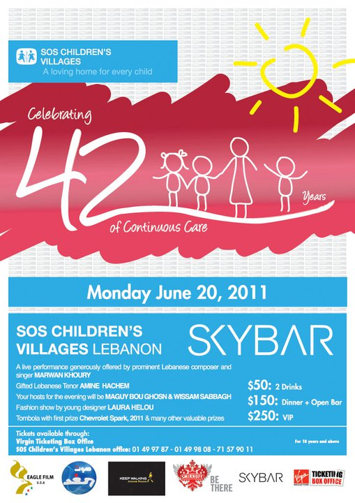 SOS Children's Villages At SkyBar
