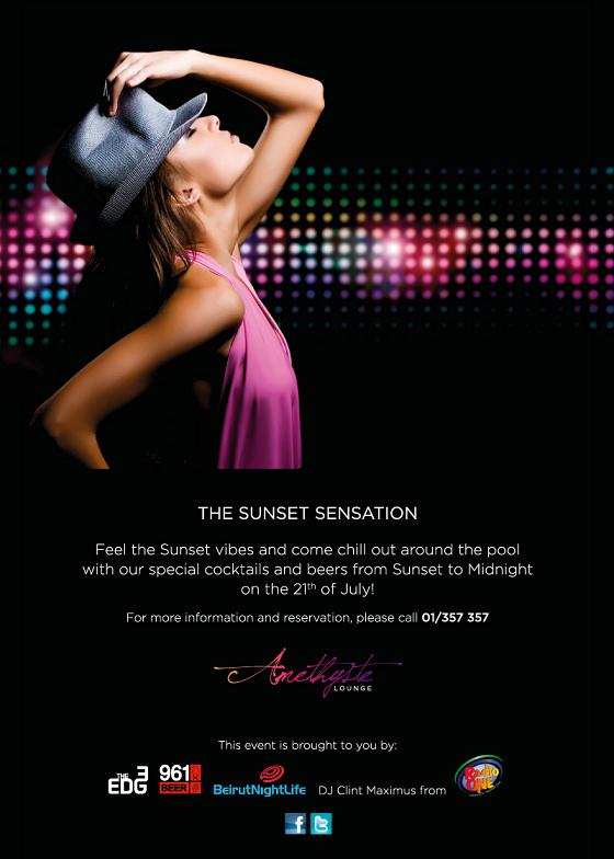 The Sunset Sensation At Amethyste