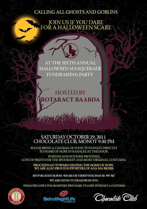 Sixth Annual Halloween Masquerade Fundraising Party