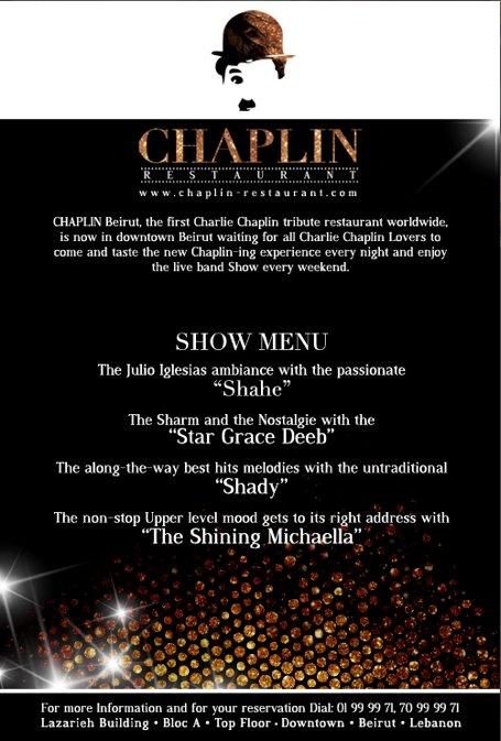 NYE At Chaplin Restaurant