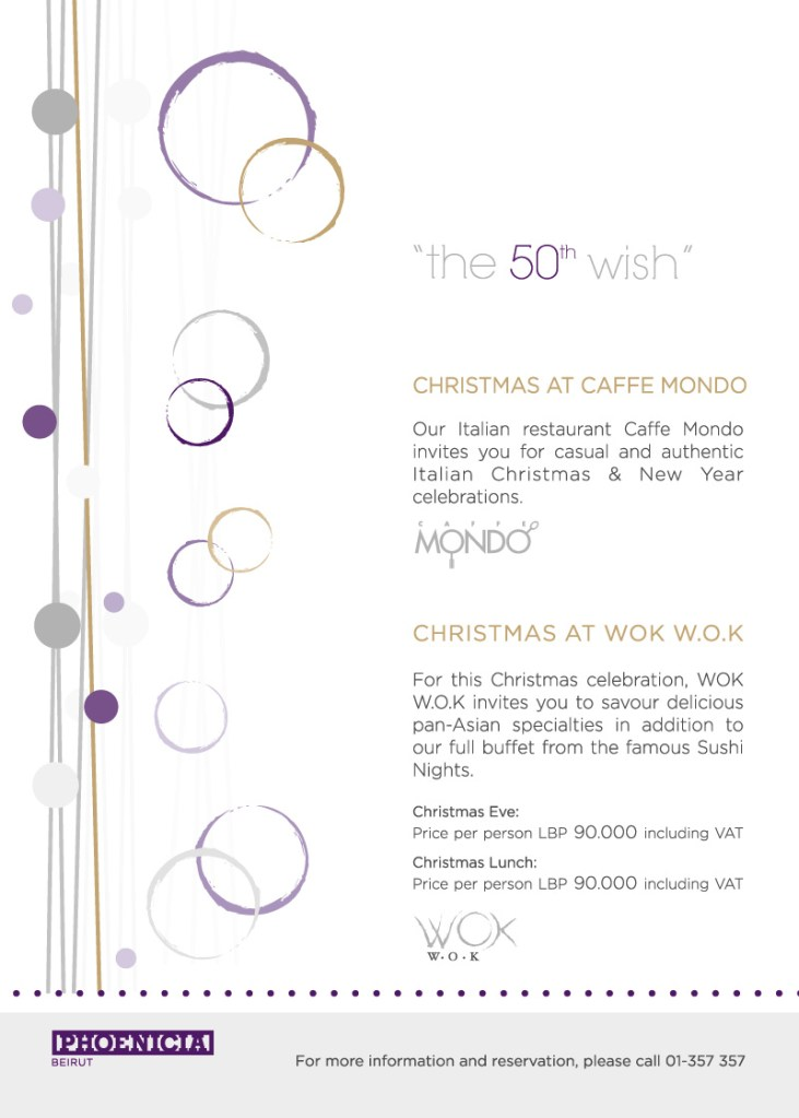 Christmas At Caffe Mondo And WOK W.O.K