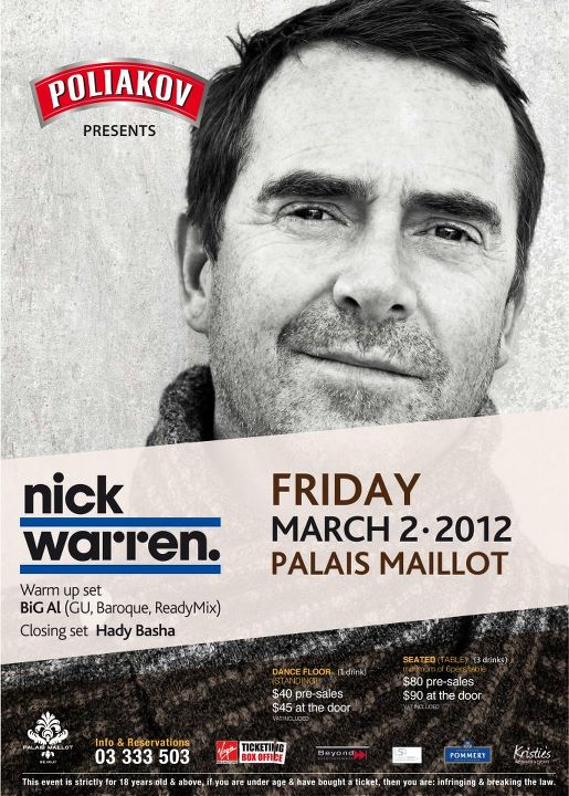 Nick Warren Live At Palais Maillot