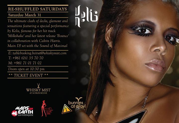 Kelis Performing On Re-Shuffled Saturdays At Whisky Mist