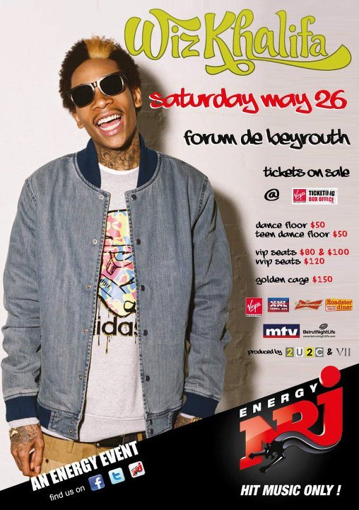 Win Free Tickets to See Wiz Khalifa Live in Lebanon!