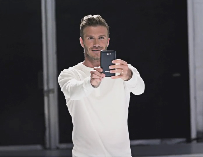 Olympic Ambassador, David Beckham Celebrates the Power of the Samsung GALAXY Note