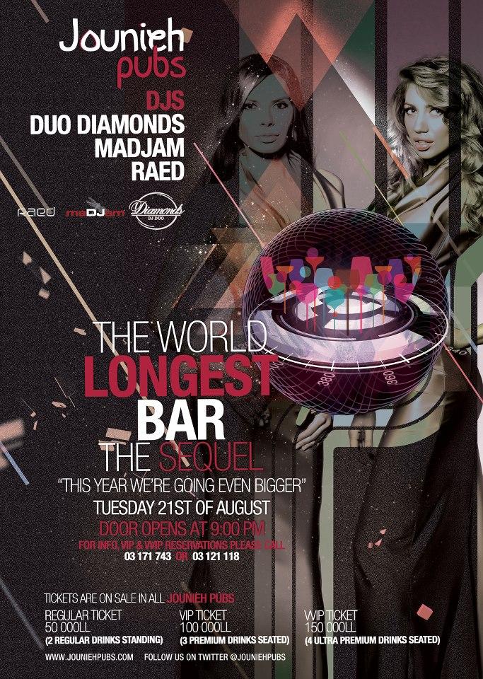 The World Longest Bar At Jounieh