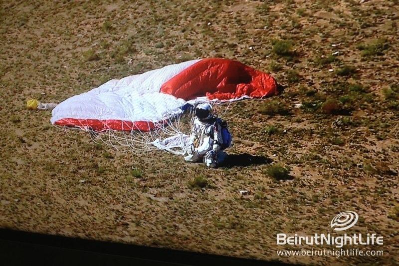 Felix Baumgartner Jumps From Edge Of Space Breaking All