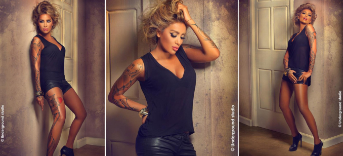 Maya Diab and the sexy tattoo
