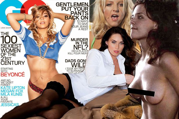 Beyonce's boobs and Katie Holmes' nakedness get them onto GQ's sexiest women of century list