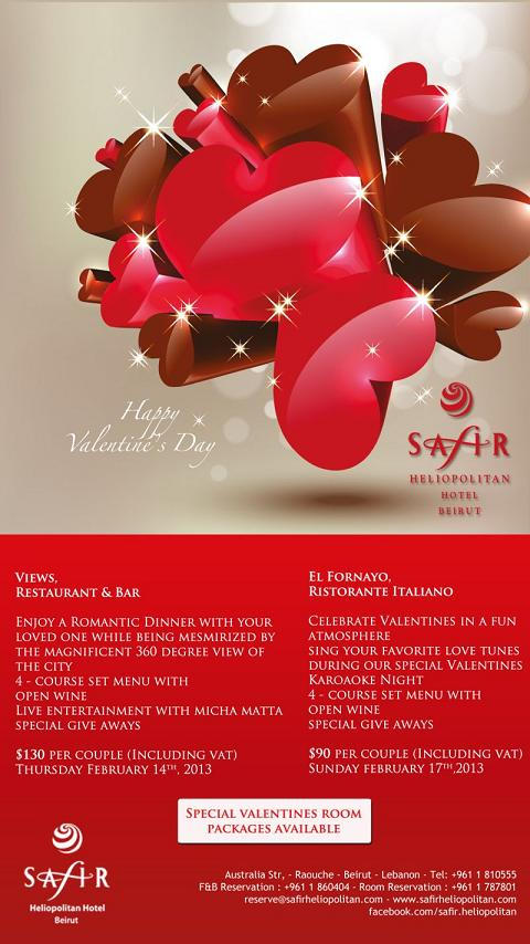Valentine at Safir Heliopolitan Hotel