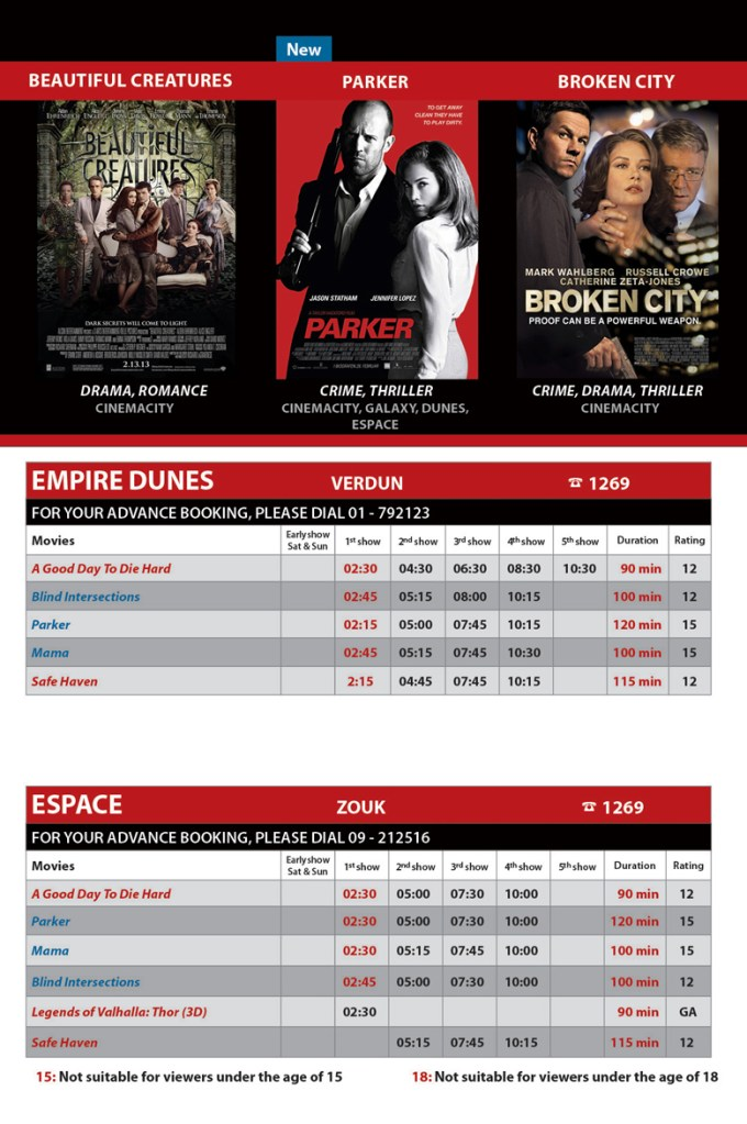 Weekly Movie Picks with Empire Cinemas' Schedule