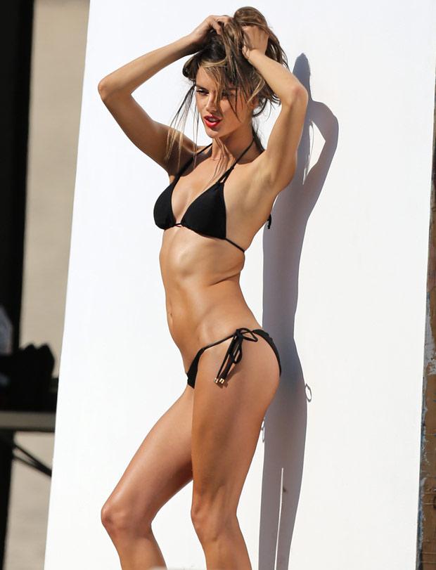 Alessandra Ambrosio turns up the heat in a sizzling bikini shoot