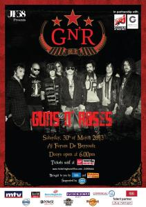 Congratulations to winners of FREE Guns N' Roses ticket with BeirutNightLife.com
