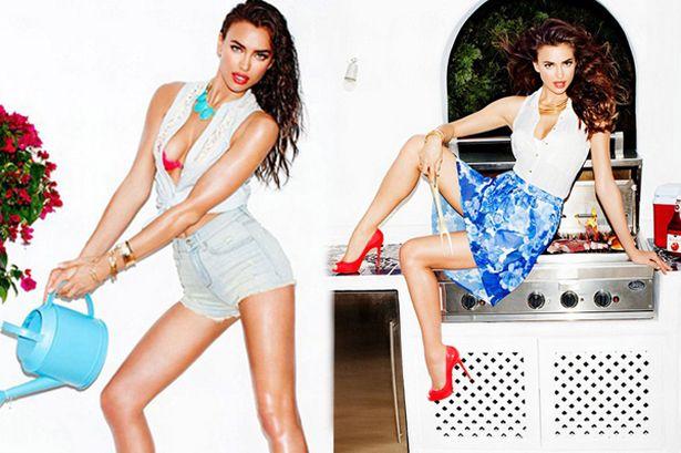 Ronaldo's girlfriend Irina Shayk new fashion campaign for Dynamite