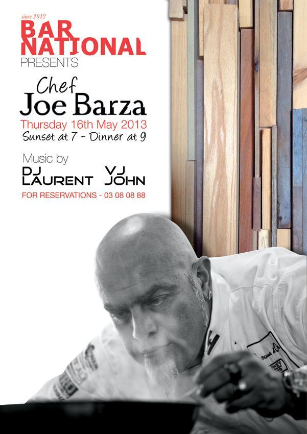 Chef Joe Barza at Bar National