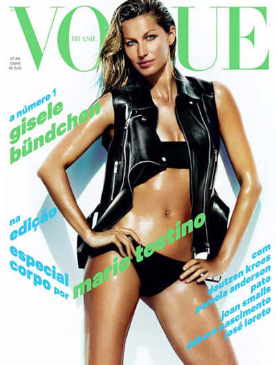 Gisele Sizzles on Cover of Vogue Brazil