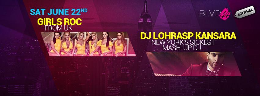 New York's DJ L + London's Girls Roc Live at BLVD 44