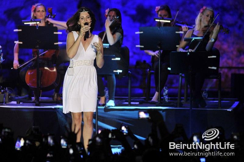 Lovely Lana Del Rey Mesmerizes Byblos