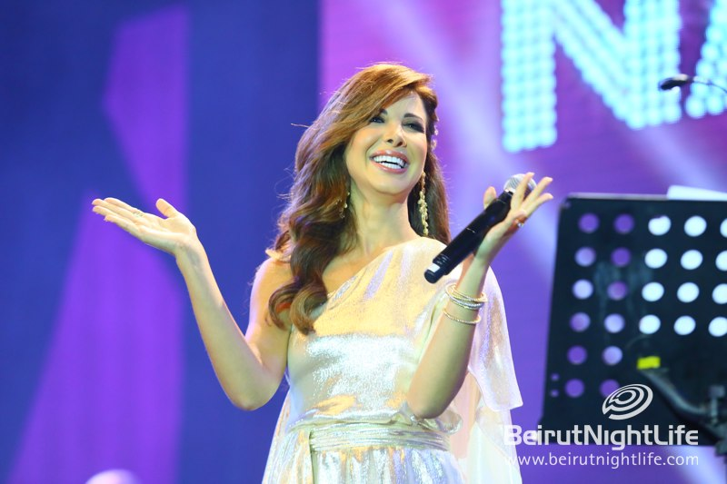 Nancy Ajram shines at the opening of Beirut Holidays