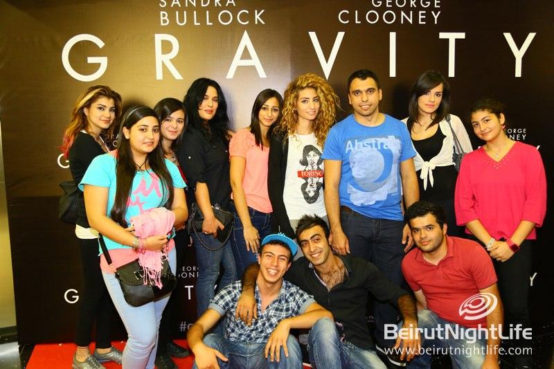 Gravity's Avant Premier at Grand Cinemas ABC Dbayeh