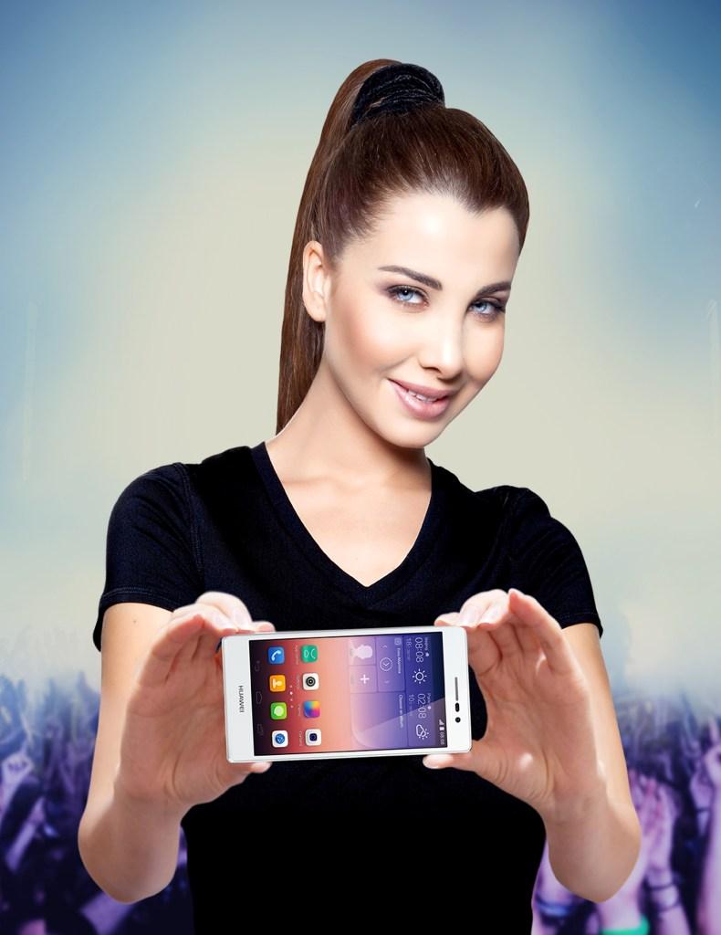 Huawei Announces Nancy Ajram as Brand Ambassador at Ascend Mate 7 Smartphone Launch