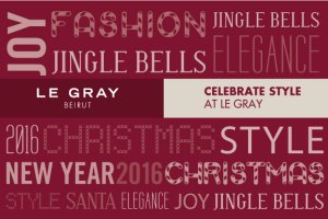 CHRISTMAS AND NEW YEAR 2015  CELEBRATE STYLE AT LE GRAY