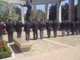 Ceremoni på kyrkogården