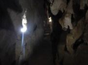 Passage genom grottan där vi åt lunch