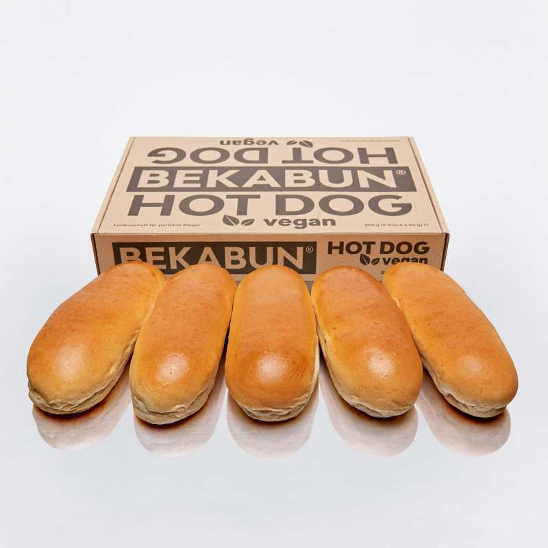 BEKABUN® Hot Dog vegan Brötchen Online Shop