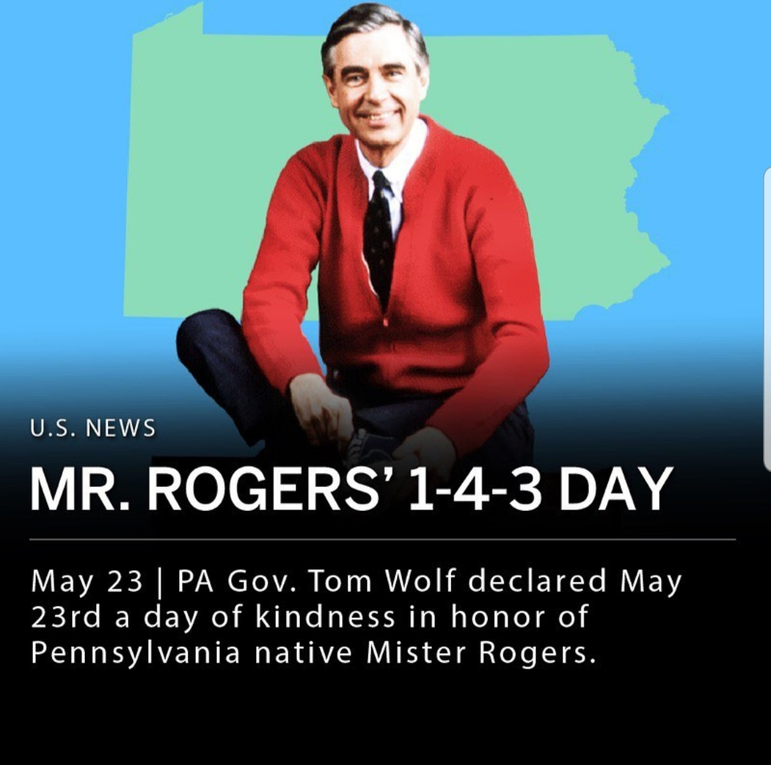 Mr Rogers 1 4 3 Day Of Kindness Bekindr Kindness Neuroscience Wellbeing