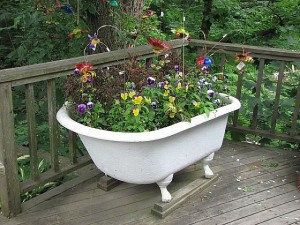 Repurposed bathtub