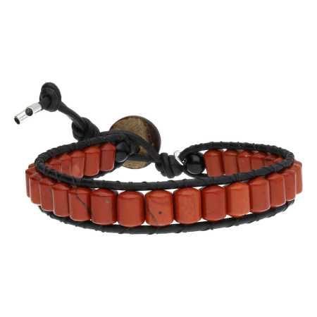 Armband Classic B6 Rood Jaspis Leer-3