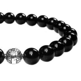 Armband Luxury B8 – Onyx – Geoxideerd Sterling Zilver – 50% korting