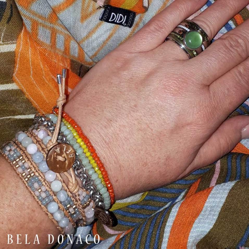 Bela Donaco armbanden met pasteltinten