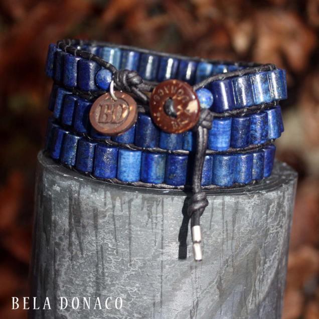 Lapis Lazuli heren wikkelarmband