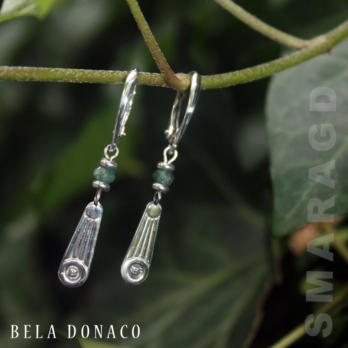 Oorbellen Art Deco - Smaragd - Sterling Zilver