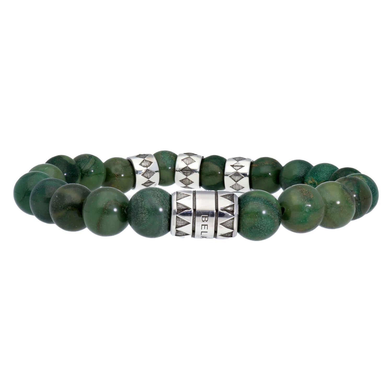 Armband Luxury B10 Africaanse Jade Geoxideerd Sterling Zilver-1