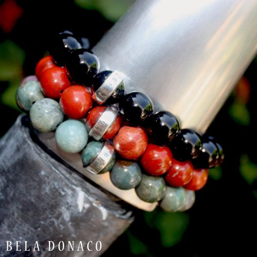 Armband Luxury B12 – Redstone – Sterling Zilver