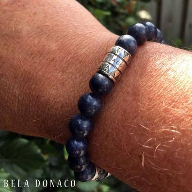Armband Supreme Luxury B10 – Saffier – Geoxideerd Sterling Zilver