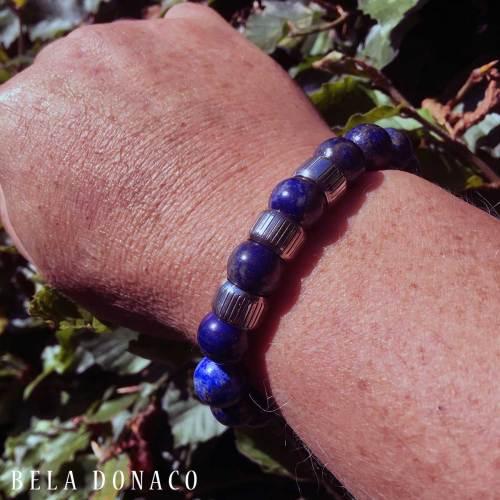 Armband Luxury B12 Retro – Lapis Lazuli – Sterling Zilver