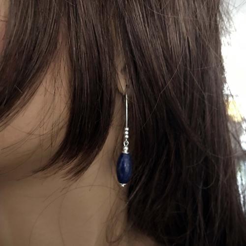 Oorbellen Blue Jeans – Lapis Lazuli – Sterling Zilver